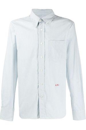 Ami Logo-embroidered button-down shirt
