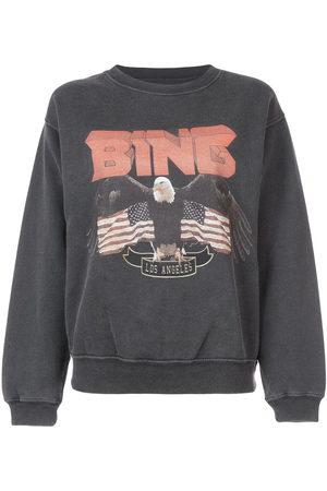 ANINE BING Logo patch sweatshirt