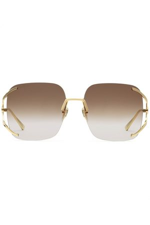 Gucci Square-frame gradient sunglasses