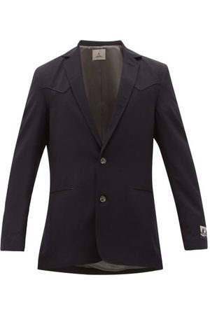 Boramy Viguier Single-breasted Wool-twill Blazer - Mens - Navy