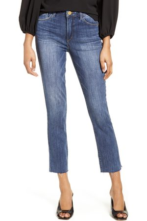 Wit & Wisdom Women's Ab-Solution High Waist Raw Hem Skinny Crop Jeans