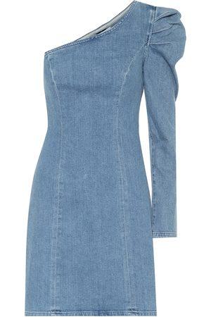 GRLFRND Women Mini Dresses - Ellie one-shoulder denim minidress