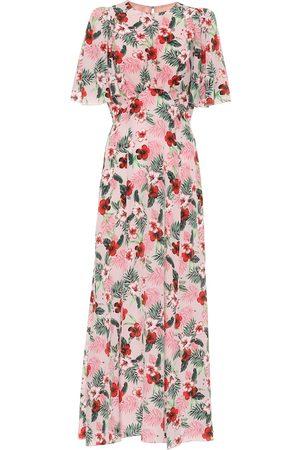 Les Rêveries Exclusive to Mytheresa – Floral silk midi dress