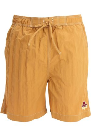 Isabel Marant Tech Swim Shorts W/ Logo Patch