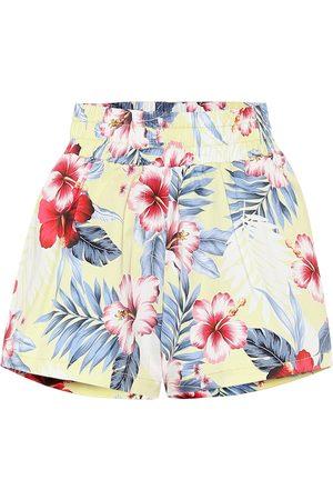 Les Rêveries Floral cotton shorts