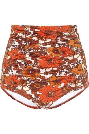 DODO BAR OR Floral high-rise bikini bottoms