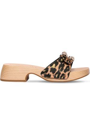 Roger Vivier 45mm Viv Jacquard Clog Sandals