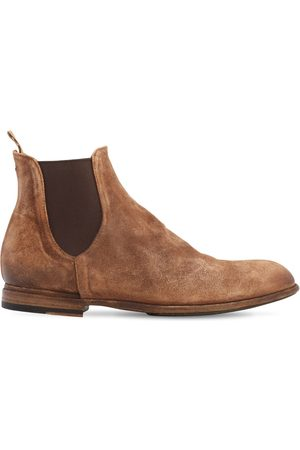 Pantanetti Men Chelsea Boots - 25mm Suede Chelsea Boots