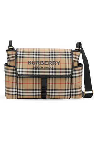 Burberry Baby Changing Bags - Logo-print checked changing bag - Multicolour