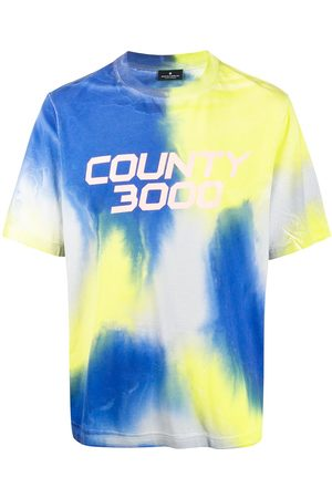 MARCELO BURLON Tie-dye logo T-shirt