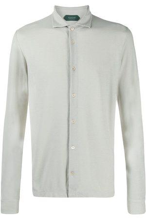 ZANONE Men Polo Shirts - Fine knit buttoned shirt - Neutrals