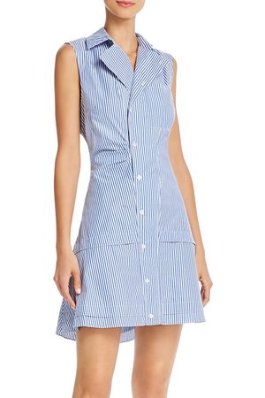 Derek Lam Satina Cotton Striped Shirt Dress