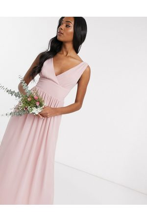 TFNC Bridesmaid top wrap chiffon dress in