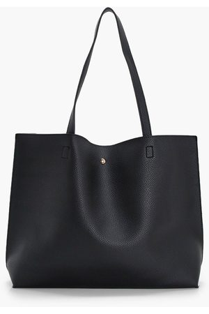 Boohoo Women Wallets - Womens Large Popper Tote Shopper Bag - - One Size