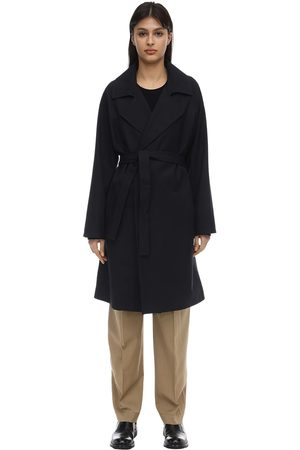 A.P.C Virgin Wool Blend Canvas Trench Coat