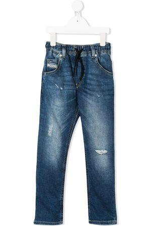 Diesel Girls Jeans - Mid rise drawstring jeans