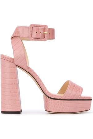 Jimmy Choo Jax 125mm crocodile-effect sandals