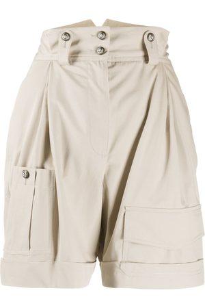 Dolce & Gabbana High waisted army shorts - Neutrals