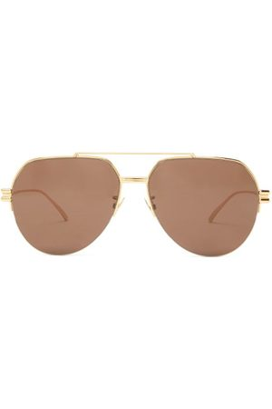 Bottega Veneta Women Aviators - Aviator Metal Sunglasses - Womens