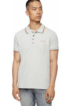 Diesel Randy Short Sleeve Polo Shirt L Melange Grey