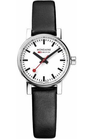 Mondaine Evo 2 Petite Watch 26 mm White / Leather