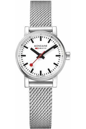 Mondaine Evo 2 Petite Watch 26 mm White / Stainless Steel Mesh