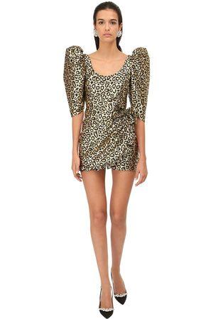 Alessandra Rich Lurex Leo Jacquard Mini Dress