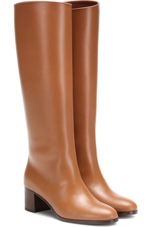 Loro Piana Paris 55 leather knee-high boots