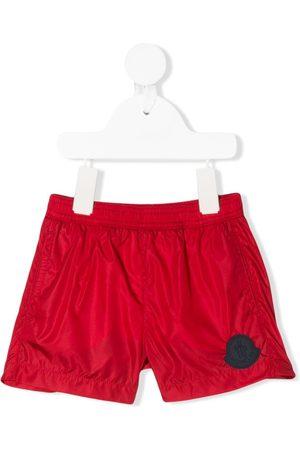 Moncler Baby Swim Shorts - Logo patch elasticated waist swim shorts