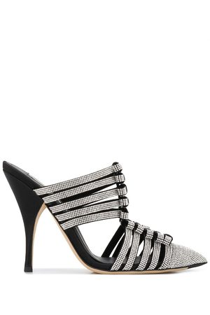 MARCO DE VINCENZO Women Mules - Crystal-embellished bow mules