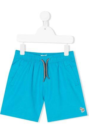 Paul Smith Boys Swim Shorts - Zebra embroidery swim shorts