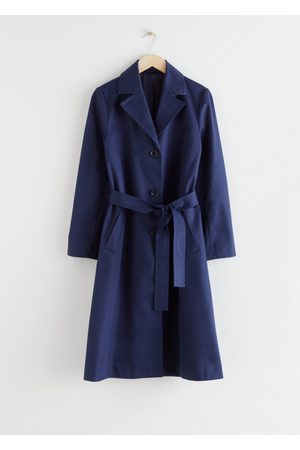 & OTHER STORIES Belted A-Line Twill Trenchcoat
