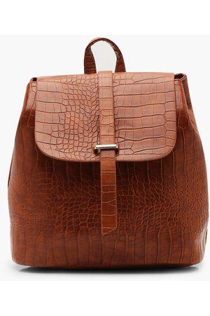 Boohoo Women Wallets - Womens Croc Tab Backpack - - One Size