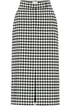 Ami Women Skirts - High-rise checked skirt