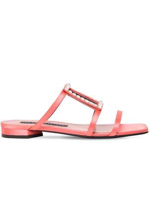 Les Petits Joueurs 10mm Hoya Embellished Satin Sandals