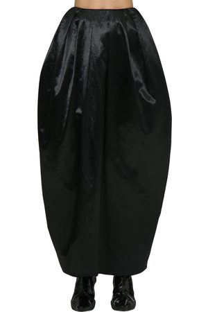 Marine Serre High Waist Satin Maxi Puff Skirt
