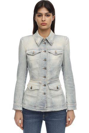 FAITH CONNEXION Fitted Cotton Denim Jacket