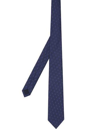 Burberry Men Bow Ties - Classic Cut Monogram Motif Silk Jacquard Tie