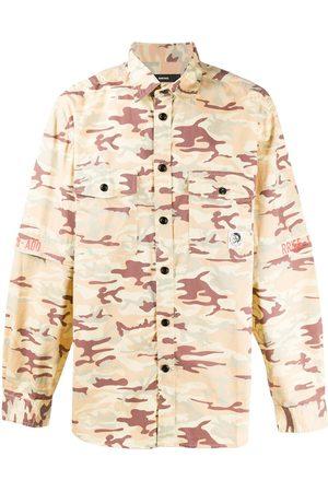 Diesel Camouflage-print two-pocket overshirt - Neutrals