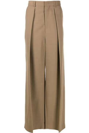 Ami Wide-fit pleated trousers - NEUTRALS