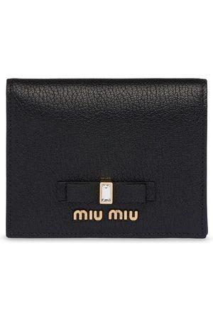 Miu Miu Bow compact wallet