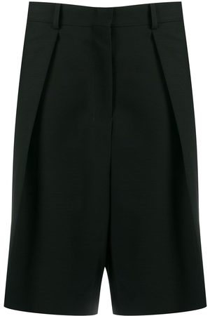 Ami Wide-fit pleated bermuda shorts