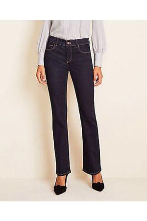 ANN TAYLOR Petite Modern Slim Boot Cut Jeans in Classic Rinse Wash