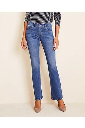 ANN TAYLOR Curvy Slim Boot Cut Jeans in Mid Stonewash
