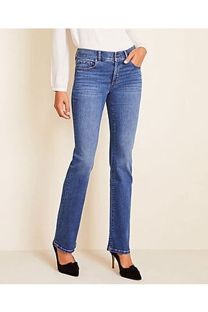 ANN TAYLOR Women Bootcut - Petite Sculpting Pocket Slim Boot Cut Jeans in Mid Stone Wash