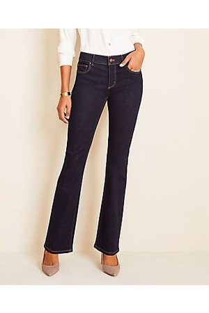 ANN TAYLOR Petite Curvy Slim Boot Cut Jeans in Classic Rinse Wash