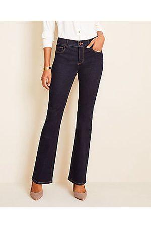 ANN TAYLOR Curvy Slim Boot Cut Jeans in Classic Rinse Wash