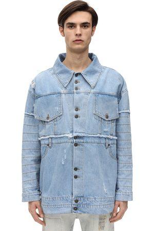 FAITH CONNEXION Oversized Cotton Denim Jacket