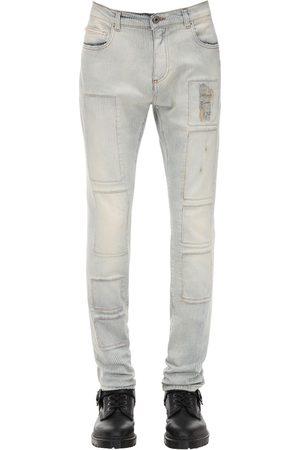 FAITH CONNEXION Pinstripe Slim Cotton Denim Jeans