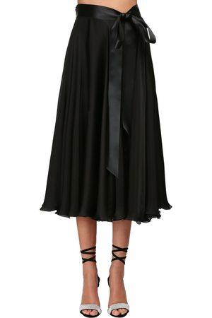 ALEXANDRE VAUTHIER Chiffon Satin Midi Skirt